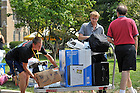 Moving in to Dillon Hall, August 2010...Photo by Matt Cashore/University of Notre Dame
