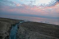 A view of the Dead Sea at the area next to Ein Gedi.  Nov 23, 2013.  Photo by Oren Nahshon