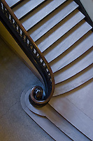 Staircase in one of the buildings at Yale University.