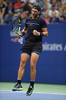 FLUSHING NY- SEPTEMBER 02: Rafael Nadal on Arthur Ashe Stadium at the USTA Billie Jean King National Tennis Center on September 2, 2016 in Flushing, Queens. Credit: mpi04/MediaPunch