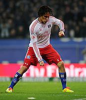 FUSSBALL   1. BUNDESLIGA   SAISON 2011/2012    11. SPIELTAG Hamburger SV - 1. FC Kaiserslautern                          30.10.2011 Paolo GUERRERO (Hamburg) bejubelt sein Tor zum 1:1.