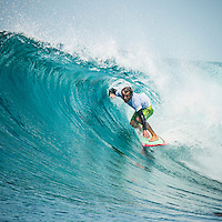 Four Seasons,Kuda Huraa, Maldives (Tuesday, August 10, 2015) The surf was still in the 6' range today from the South East.  There was a session at the famed 'Sultans Point' with clean faces and some open barrels. The wind was light from the North West.  Photo: joliphotos.com