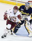 Pat Mullane (BC - 11), Joe Cannata (Merrimack - 35) - The Boston College Eagles defeated the visiting Merrimack College Warriors 3-2 on Friday, October 29, 2010, at Conte Forum in Chestnut Hill, Massachusetts.