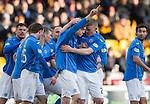 Motherwell v St Johnstone...31.01.15    SPFL<br /> Murray Davidson celebrates his goal<br /> Picture by Graeme Hart.<br /> Copyright Perthshire Picture Agency<br /> Tel: 01738 623350  Mobile: 07990 594431