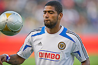 CARSON, CA - July 4, 2012: Philadelphia Union midfielder Gabriel Gomez (6) prior to the LA Galaxy vs Philadelphia Union match at the Home Depot Center in Carson, California. Final score LA Galaxy 1, Philadelphia Union 2.