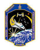 Houston, TX - (FILE) -- The STS-126 patch, released in April, 2008, represents Space Shuttle Endeavour on its mission to help complete the assembly of the International Space Station (ISS). The inner patch outline depicts the Multi-Purpose Logistics Module (MPLM) Leonardo. This reusable logistics module will carry the equipment necessary to sustain a crew of six on board the ISS and will include additional crew quarters, exercise equipment, galley, and life support equipment. In addition, a single expedition crew member will launch on STS-126 to remain on board ISS, replacing an expedition crew member who will return home with the shuttle crew. Near the center of the patch, the constellation Orion reflects the goals of the human spaceflight program, returning us to the Moon and on to Mars, the red planet, which are also shown. At the top of the patch is the gold symbol of the astronaut office. The sunburst, just clearing the horizon of the magnificent Earth, powers all these efforts through the solar arrays of the ISS current configuration orbiting high above. The NASA insignia for design for shuttle flights is reserved for use by the astronauts and for other official use as the NASA Administrator may authorize. Public availability has been approved only in the form of illustrations by the various news Media. When and if there is any change in this policy it will be publicly announced..Credit: NASA via CNP
