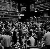 Chicago, Illinois.March 28, 2008 ..Chicago Mercantile Exchange - traders on the open outcry S&P 500 pit as markets continue to swing at 100+ points a day up or down. The mortgage crisis is being played out on Wall Street and world's financial markets..