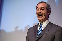 UKIP Spring Conference Margate 27-2-15Party leader Nigel Farage address the conference.