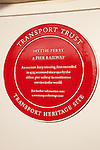 Hythe Ferry and Pier Railway Plaque; Southampton; England; UK