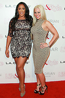 WEST HOLLYWOOD, CA, USA - OCTOBER 23: Natalie Nunn, Sarah Oliver arrive at the Life & Style Weekly 10 Year Anniversary Party held at SkyBar at the Mondrian Los Angeles on October 23, 2014 in West Hollywood, California, United States. (Photo by David Acosta/Celebrity Monitor)