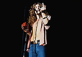 LOS ANGELES, CA - AUGUST 08: Robert Plant performs with Led Zeppelin in Concert Circa 1975 in Los Angeles, California.