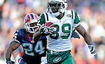 2 November 2008:  New York Jets' wide receiver Jerricho Cotchery (89) in action against the Buffalo Bills at Ralph Wilson Stadium in Orchard Park, NY. The Jets defeated the Bills 26-17 improving their record to 5 and 3 for the season...Mandatory Photo Credit: Ed Wolfstein Photo