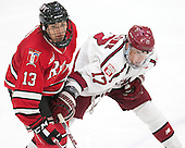 Jared Wilson (RPI - 13), Sean Malone (Harvard - 17) - The Harvard University Crimson defeated the visiting Rensselaer Polytechnic Institute Engineers 5-2 in game 1 of their ECAC quarterfinal series on Friday, March 11, 2016, at Bright-Landry Hockey Center in Boston, Massachusetts.