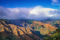 Waimea Canyon with rainbow; Kauai, Hawaii.