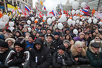Moscow, Russia, 24/12/2011..An estimated crowd of up to 100,000 protest against election fraud and Prime Minister Vladimir Putin in the largest anti-government demonstration in Russia since the collapse of the Soviet Union.