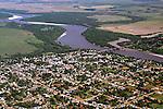 Aerea da cidade de Manoel Viane e rio Ibicui. Rio Grande do Sul. 2010. Foto de Zig Koch.