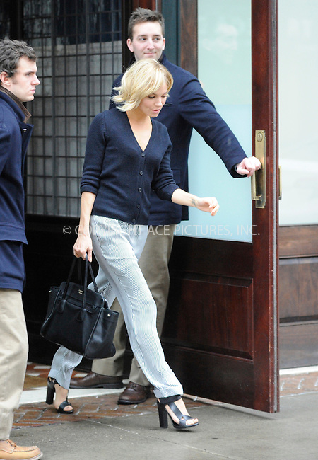 WWW.ACEPIXS.COM<br /> <br /> January 12 2015, New York City<br /> <br /> Sienna Miller leaves a downtown hotel on January 12 2015 in New York City. Miller is in town to take over the role of Sally bowles in the musical 'Cabaret' from actress Emma Stone.<br /> <br /> Please byline: Curtis Means/ACE Pictures<br /> <br /> <br /> <br /> <br /> <br /> ACE Pictures, Inc.<br /> www.acepixs.com<br /> For information please call 646 769 0430