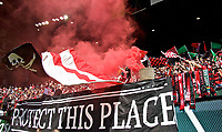 Portland, OR - Saturday April 15, 2017:  Rose City Riveters during a regular season National Women's Soccer League (NWSL) match between the Portland Thorns FC and the Orlando Pride at Providence Park.