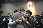 United States President George W. Bush comforts families during his trip to New York, New York, Friday, September 14, 2001..Mandatory Credit: Eric Draper - White House via CNP.