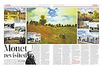 Monet's paintings revisted at Argenteuil