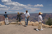 The Grand Canyon, Arizona.USA.August 9, 2004..Democratic presidentual nominee Sen. John Kerry and his wife Teresa on their campaign tour across America from coast to coast..