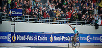 Paris-Roubaix 2012 ..Tom Boonen greeting the fans with 1 lap to go