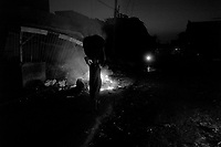Port Au Prince, Haiti, Jan 27 2010.Two weeks after the earthquake, downtown Port au Prince looks like a ghost town, especially at night..