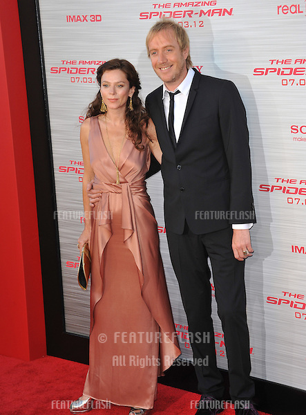"Rhys Ifans & girlfriend Anna Friel at the world premiere of his movie ""The Amazing Spider-Man"" at Regency Village Theatre, Westwood..June 29, 2012  Los Angeles, CA.Picture: Paul Smith / Featureflash"