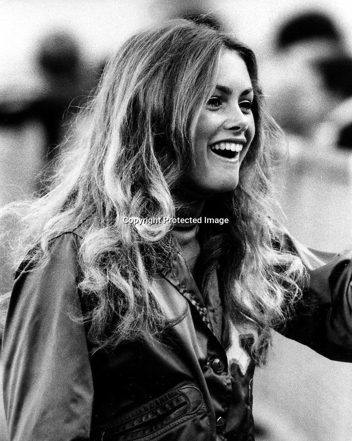 Oakland Athletics ball girl Debbie Sivier in 1973 she later went on to become Mrs.Fields of Mrs.Fields Cookie fame. (photo by Ron Riesterer)