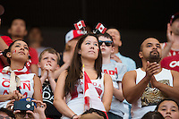 June 21, 2015: Canadian fans in the crowd during a round of 16 match between Canada and Switzerland at the FIFA Women's World Cup Canada 2015 at BC Place Stadium on 21 June 2015 in Vancouver, Canada. Canada won 1-0. Sydney Low/Asteriskimages.com