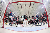 - The Northeastern University Huskies tied Boston University Terriers 3-3 in the 2011 Beanpot consolation game on Tuesday, February 15, 2011, at Conte Forum in Chestnut Hill, Massachusetts.