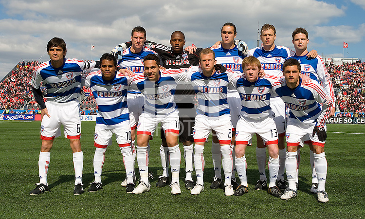 11 April 2009:Starting eleven for FC Dallas during MLS action at BMO Field Toronto, in a game between FC Dallas and Toronto FC. .Final score was a 1-1 draw.