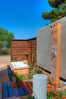Outdoor, Shower, Bath, Wood Flooring, Bathroom, Open Air High dynamic range imaging (HDRI or HDR)
