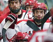 (Grimshaw) Daniel Moriarty (Harvard - 11) - The Harvard University Crimson defeated the visiting Clarkson University Golden Knights 3-2 on Harvard's senior night on Saturday, February 25, 2012, at Bright Hockey Center in Cambridge, Massachusetts.