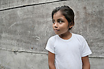 A girl in Santa Elena, in Guatemala's remote Peten region.