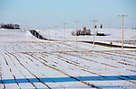 Farm field in Dane County, Wisconsin on 02 24 2013-Photo Steve Apps