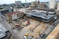 1995 August 18..Redevelopment.Tidewater Community College..TCC PROGRESS & DRAWINGS - DURING..PV9.SCIENCE & ADMIN BUILDING SITE.FROM ROOF...NEG#.NRHA#..