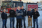 Matt Claman with Firefighters and educators
