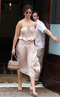 NEW YORK, NY - JULY 1:  Camila Alves, model, media personality and wife of actor Matthew McConaughey seen leaving her hotel in New York, New York on July 1, 2016.  Photo Credit: Rainmaker Photo/MediaPunch
