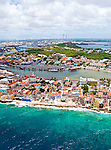 2 August 2009: An aerial view of resort hotels and condominiums outside the Caribbean town of Willemstad, on the island of Curacao, in the Netherlands Antilles. Curaçao is known for tourism, scuba diving, and technologically advanced business districts. Mandatory Photo Credit: Ed Wolfstein Photo