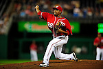 22 August 2009: Washington Nationals' pitcher Jorge Sosa on the mound in relief against the Milwaukee Brewers at Nationals Park in Washington, DC. The Nationals fell to the Brewers 11-9, in the second game of their four-game series. Mandatory Credit: Ed Wolfstein Photo