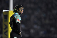 Marland Yarde of Harlequins looks on during a break in play. Aviva Premiership match, between Harlequins and Leicester Tigers on February 19, 2016 at the Twickenham Stoop in London, England. Photo by: Patrick Khachfe / JMP
