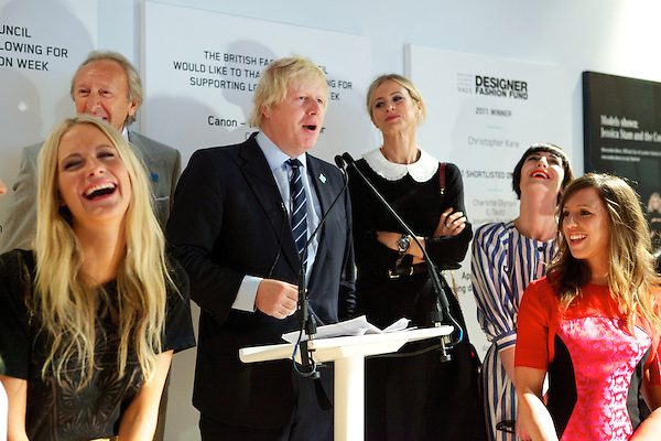 Poppy Delevigne, Harold Tilman, Boris Johnson, Laura Bailey, Erin O'Connor and Heather Fell