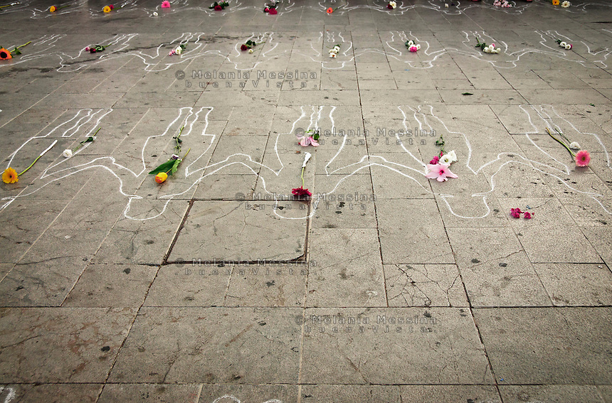 Palermo, Italy : homage to the women who died because of domestic violence.<br />