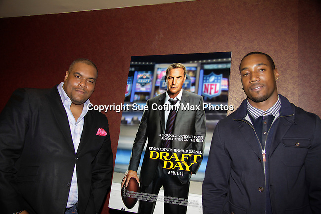 04-03-14 Draft Day - Sean Ringgold - NY Giants Mario Manningham - Delaina Dixon - private screening
