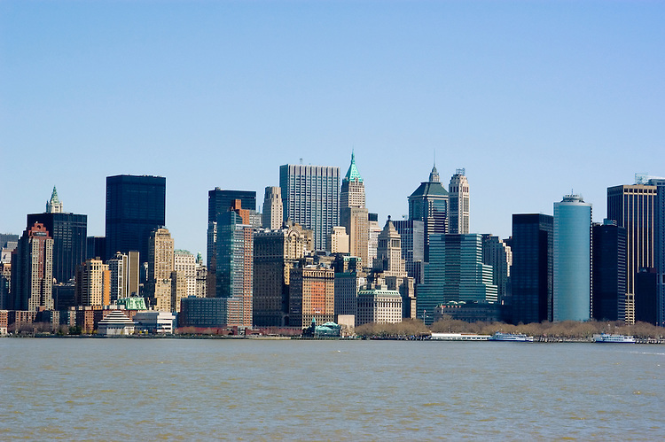 New York City, New York: Skyline of New York lower manhattan post 9-11.  .Photo #: ny219-14641  .Photo copyright Lee Foster, www.fostertravel.com, lee@fostertravel.com, 510-549-2202.