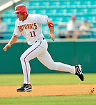 11 March 2006: Ryan Zimmerman, third baseman for the Washington Nationals, attempts to steal second base during a Spring Training game against the Los Angeles Dodgers. The Nationals defeated the Dodgers 2-1 in 10 innings at Space Coast Stadium, in Viera, Florida...Mandatory Photo Credit: Ed Wolfstein.