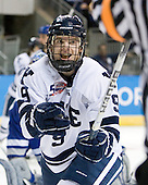 Brian O'Neill (Yale - 9) - The Yale University Bulldogs defeated the Air Force Academy Falcons 2-1 (OT) in their East Regional Semi-Final matchup on Friday, March 25, 2011, at Webster Bank Arena at Harbor Yard in Bridgeport, Connecticut.