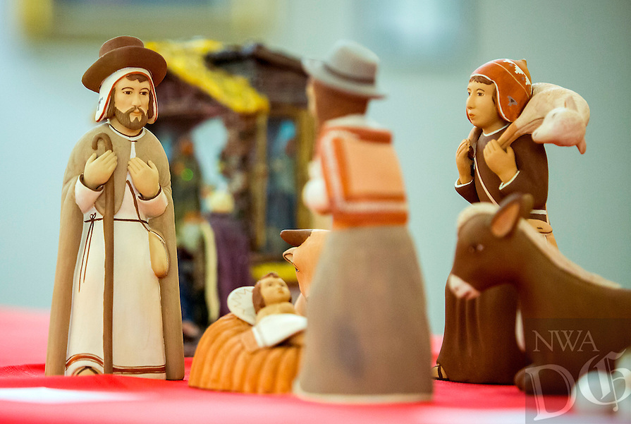 NWA Democrat-Gazette/JASON IVESTER <br /> (FROM Puerto Rico) one of the Nativity scenes on Monday, Dec. 7, 2015, inside the First United Methodist Church of Bella Vista. About 70 various Nativity scenes owned by the church's members were on display for the evening.