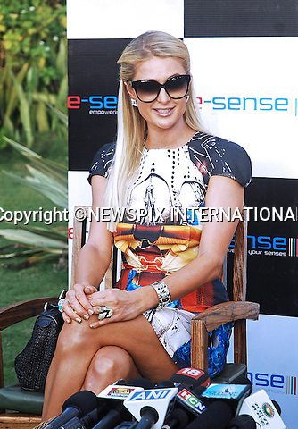 "01.12.2012; Goa: PARIS HILTON FASHION FAUX PAS.Forgets to paint over her fingernail..The American heiress and socialite acted as DJ at the closing of the annual Fashion Show held on Candolim Beach, Goa_01/12/2012.Mandatory Photo Credit: ©NEWSPIX INTERNATIONAL..**ALL FEES PAYABLE TO: ""NEWSPIX INTERNATIONAL""**..PHOTO CREDIT MANDATORY!!: NEWSPIX INTERNATIONAL(Failure to credit will incur a surcharge of 100% of reproduction fees)..IMMEDIATE CONFIRMATION OF USAGE REQUIRED:.Newspix International, 31 Chinnery Hill, Bishop's Stortford, ENGLAND CM23 3PS.Tel:+441279 324672  ; Fax: +441279656877.Mobile:  0777568 1153.e-mail: info@newspixinternational.co.uk"